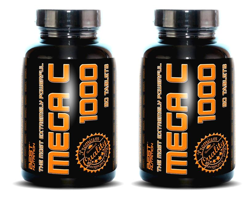 1+1 Zadarmo: Mega C 1000 - Best Nutrition 90 tbl. + 90 tbl.