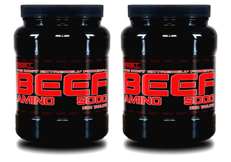 1+1 Zadarmo: Amino BEEF 5000 od Best Nutrition 500 tbl + 500 tbl