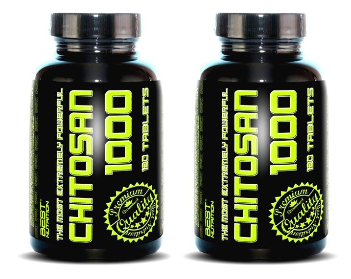 1+1 Zadarmo: Chitosan 1000 od Best Nutrition 120 tbl. + 120 tbl.