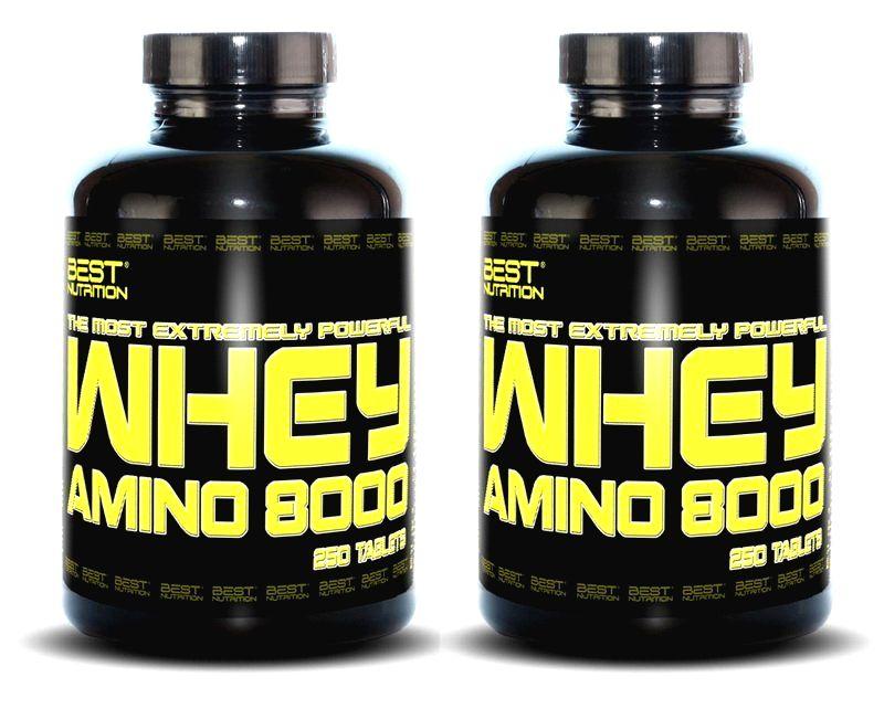 1+1 Zadarmo: Amino Whey 8000 od Best Nutrition 500 tbl. + 500 tbl.