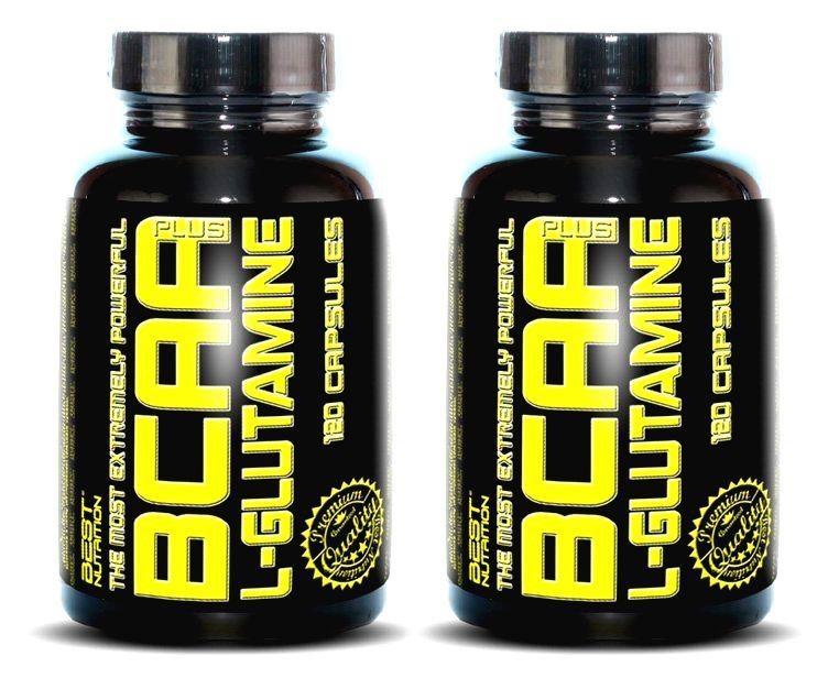1+1 Zadarmo: BCAA plus L-Glutamine od Best Nutrition 250 kaps. + 250 kaps.