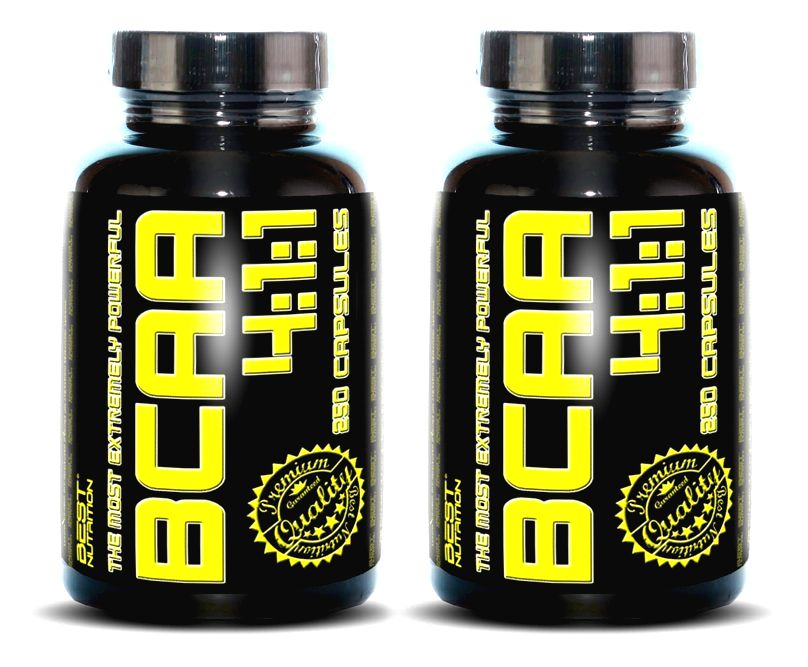 1+1 Zadarmo: BCAA 4:1:1 od Best Nutrition 250 kaps. + 250 kaps.