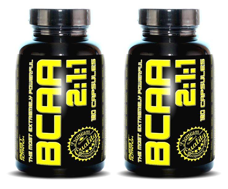1+1 Zadarmo: BCAA 2:1:1 od Best Nutrition 500 kaps. + 500 kaps.
