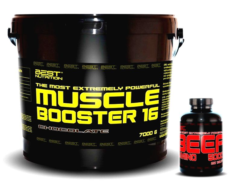 Muscle Booster + BEEF Amino Zadarmo - Best Nutrition 7