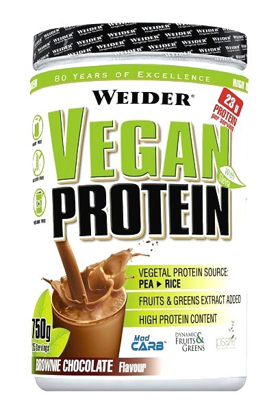 Vegan Protein od Weider 750 g Berry Mix
