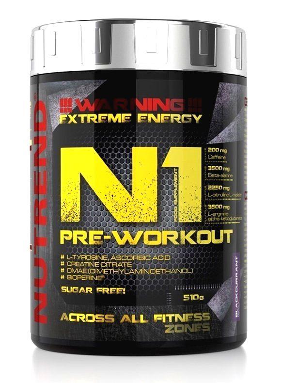 N1 Pre-Workout - Nutrend 510 g Red Orange