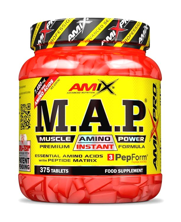 M.A.P Muscle Amino Power - Amix 375 tbl.