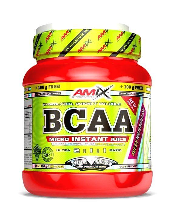 BCAA Micro Instant Juice 2:1:1 - Amix 400 g + 100 g Green Apple