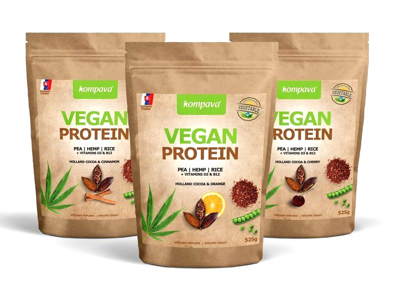 Vegan Protein - Kompava 525 g Holland Cocoa & Orange