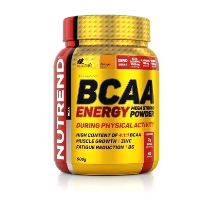 BCAA Energy Mega Strong Powder - Nutrend 500 g Raspberry