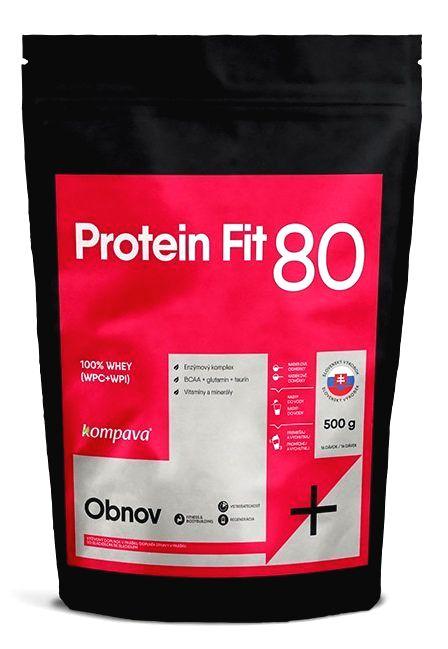 Protein Fit 80 - Kompava 500 g Čokoláda