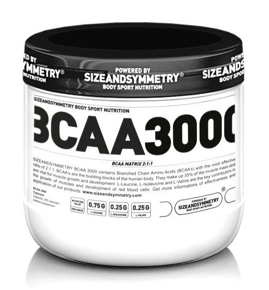 BCAA 3000 - Sizeandsymmetry  400 kaps.