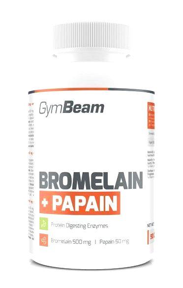 Bromelain + Papain - GymBeam 90 kaps.