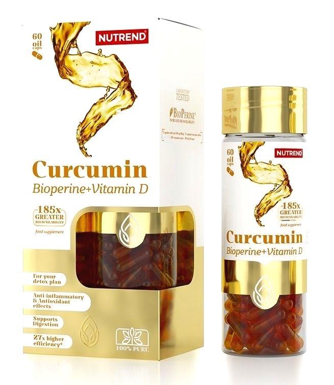 Curcumin + Bioperine + Vitamin D - Nutrend 60 kaps.