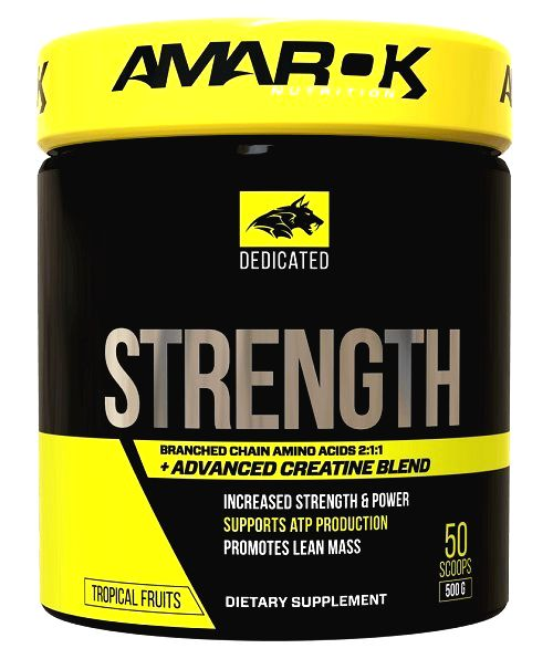 Dedicated Strenght + BCAA - Amarok Nutrition  500 g Tropical Fruits