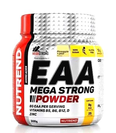 EAA Mega Strong Powder - Nutrend 300 g Orange+Apple