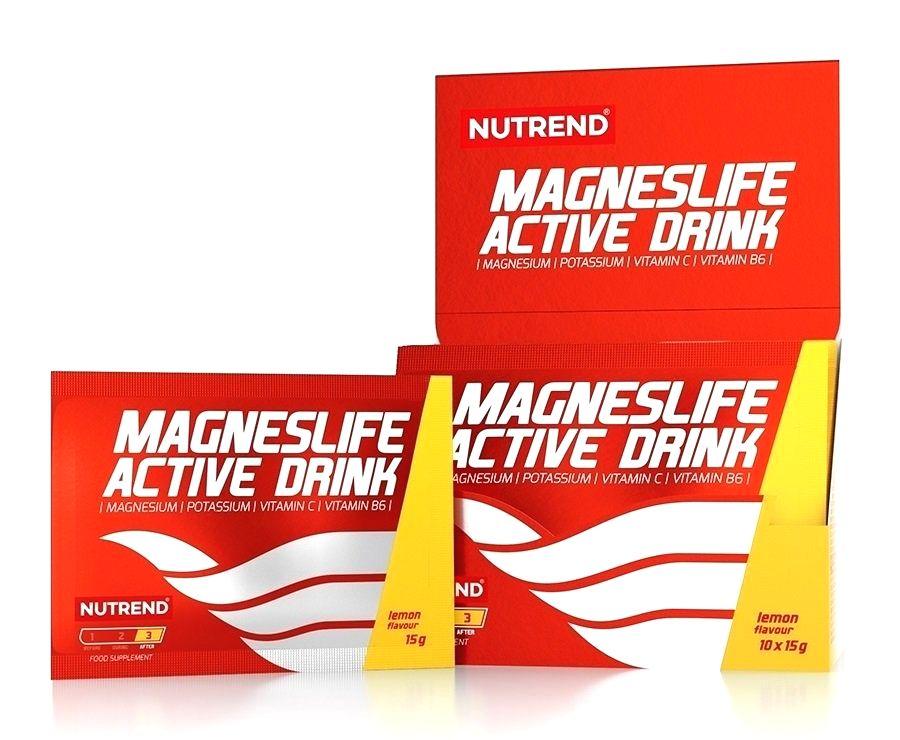 MagnesLife Active Drink - Nutrend 10 x 15 g Orange