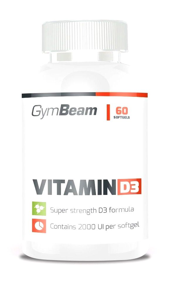 Vitamin D3 2 000 IU - GymBeam 120 kaps.