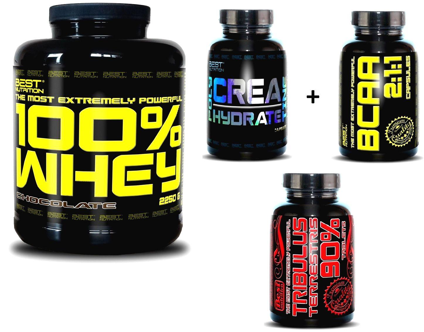 100% Whey Professional Protein - Best Nutrition 2250 g + Tribulus Čokoláda