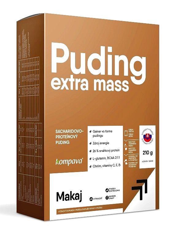 Extra Mass Puding - Kompava 6 x 35g Čokoláda+Vanilka