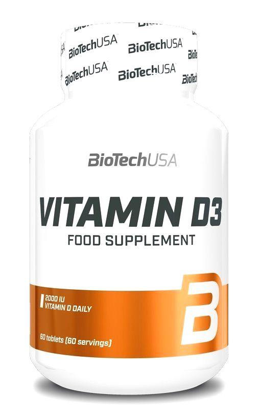 Vitamin D3 tbl. - Biotech USA 60 tbl.