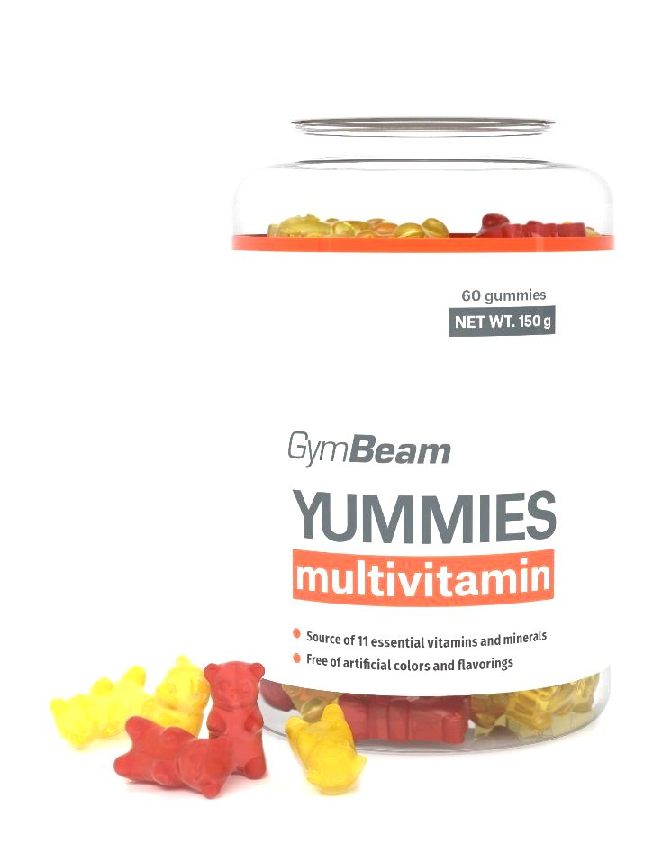 Yummies - GymBeam 60 kaps. Orange+Lemon+Cherry