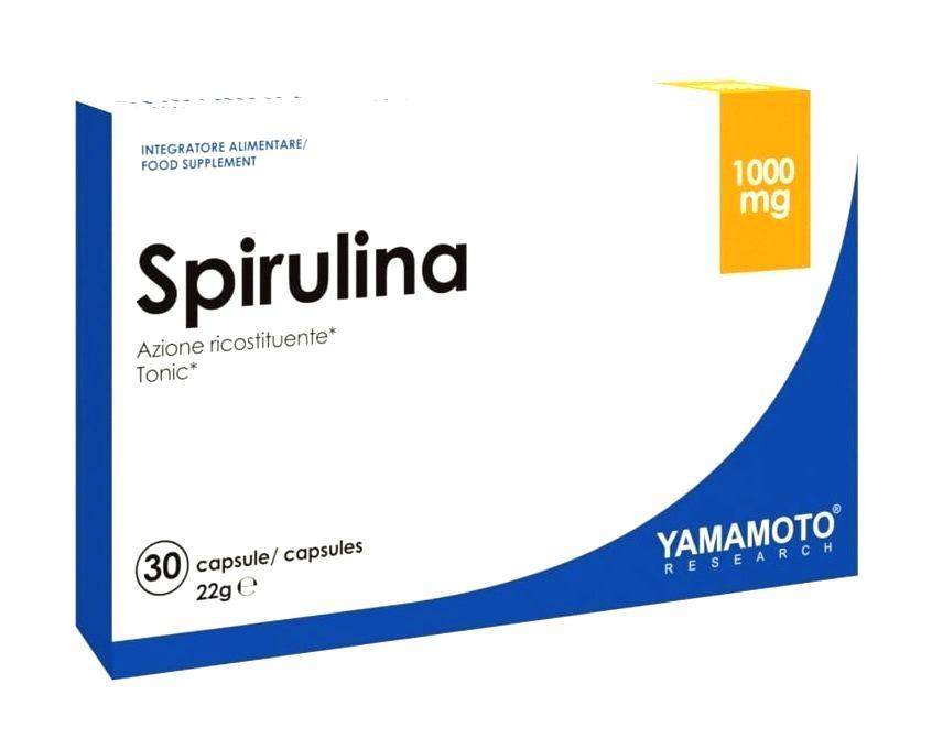 Spirulina (superpotravina: zdroj rastlinných bielkovín) - Yamamoto 30 kaps.