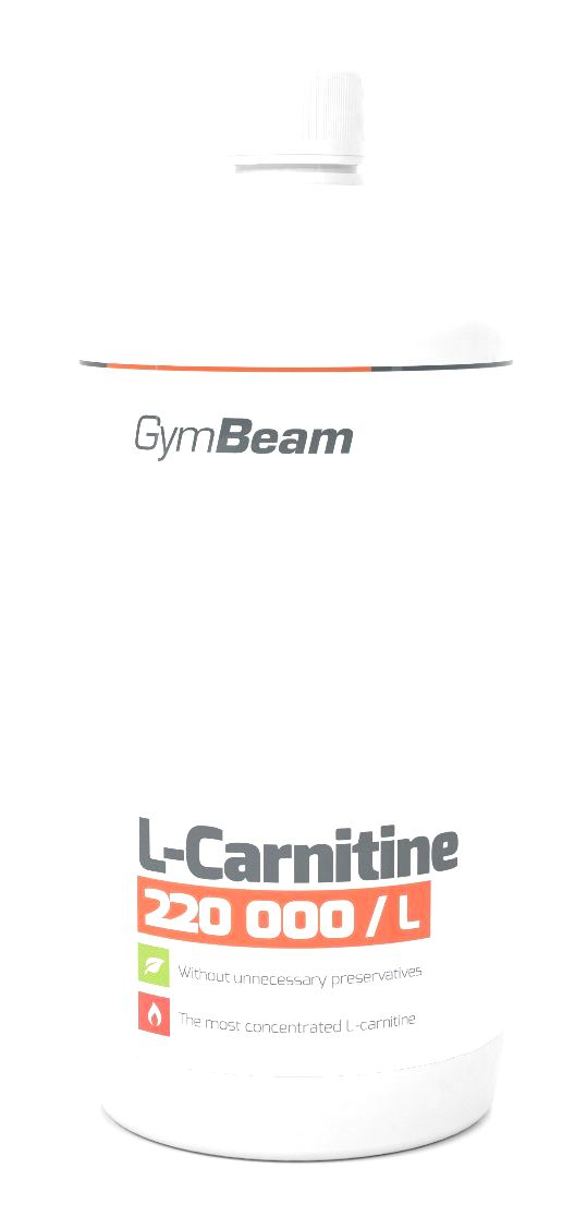 L-Carnitine - GymBeam 500 ml. Orange