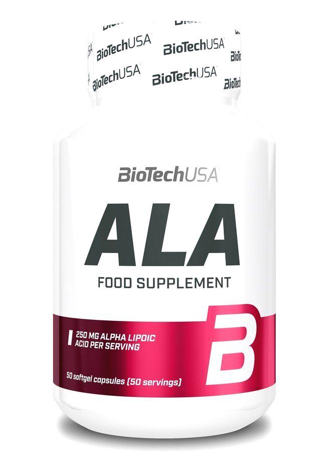 ALA Alpha Lipoic Acid - Biotech USA 50 kaps.