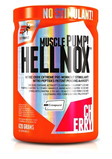 Hellnox Muscle Pump - Extrifit 620 g Zelené jablko