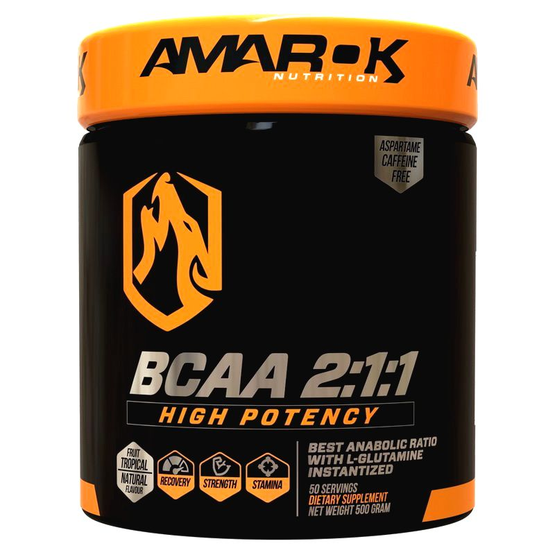 Black Line BCAA 2:1:1 - Amarok Nutrition 500 g Tropical