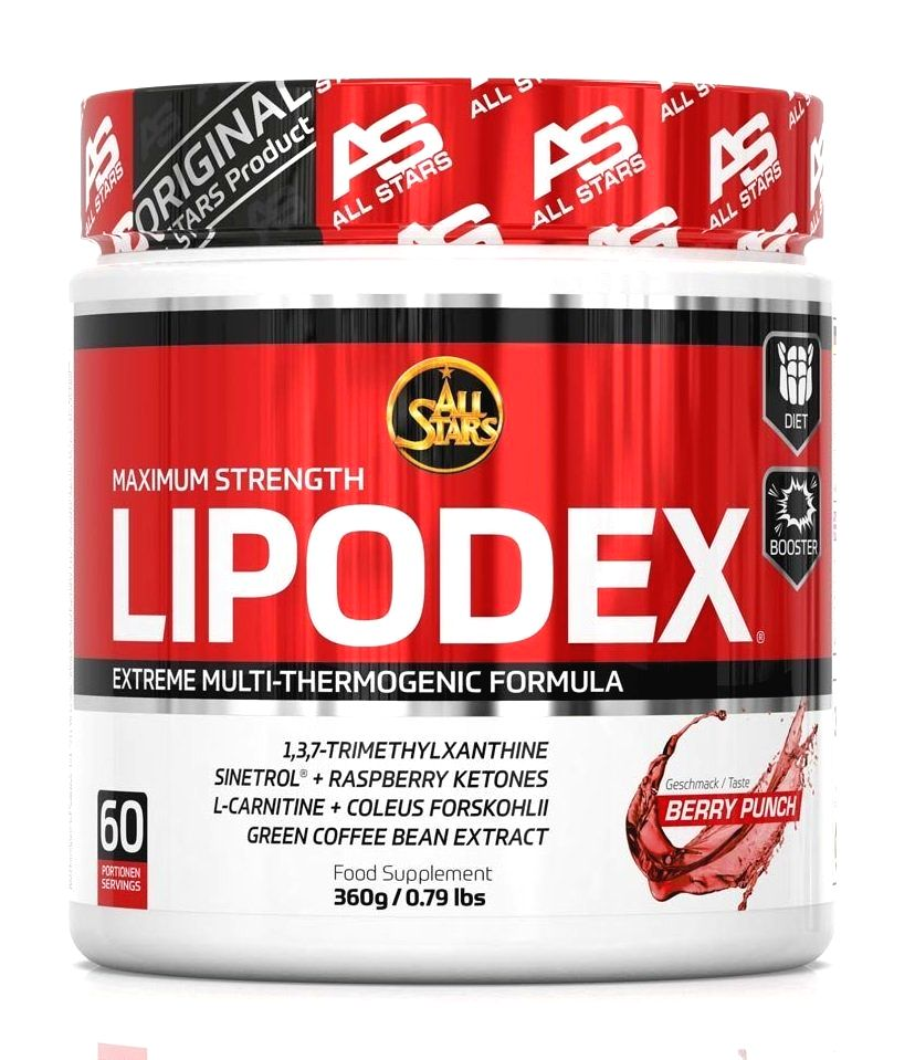 Lipodex Powder - All Stars 360 g Berry Punch