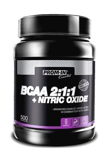 BCAA 2:1:1+Nitric Oxide - Prom-IN 500 kaps.