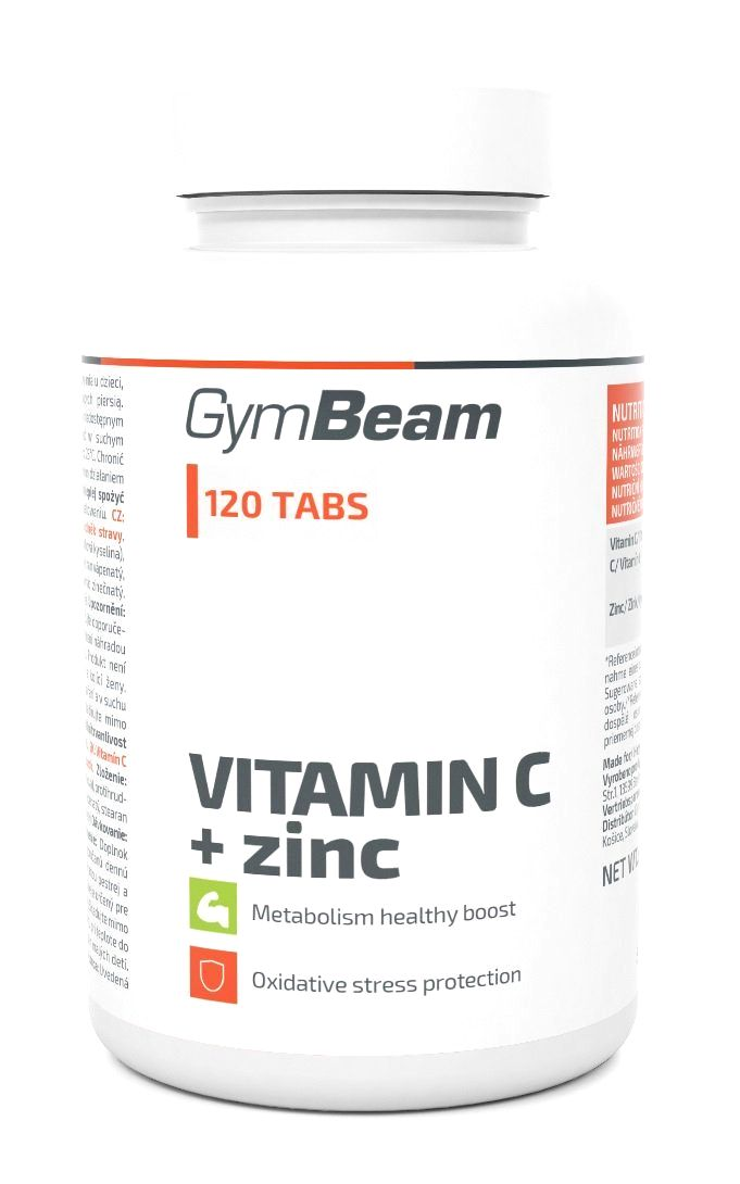 Vitamin C+Zinc - GymBeam 120 tbl.