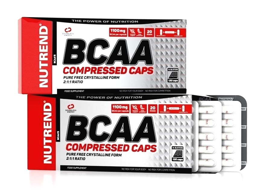 BCAA Compressed Caps - Nutrend 120 kaps.