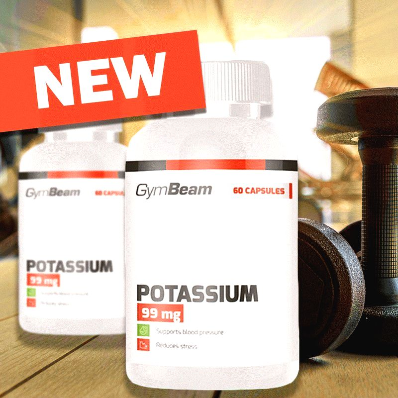 Potassium 99 mg - GymBeam  60 kaps.