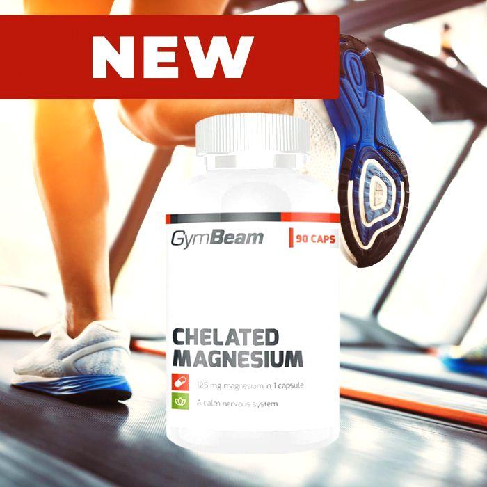 Chelated Magnesium - GymBeam 90 kaps.