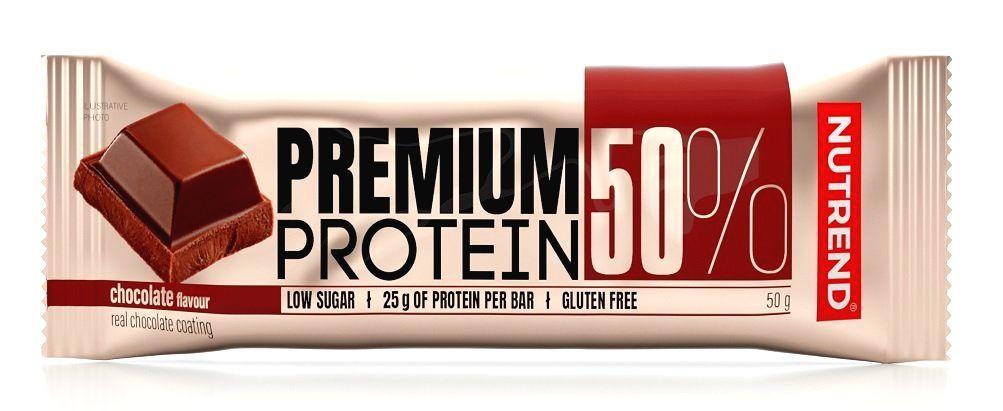 Tyčinka: Premium Protein 50% - Nutrend 50 g Cookies Cream