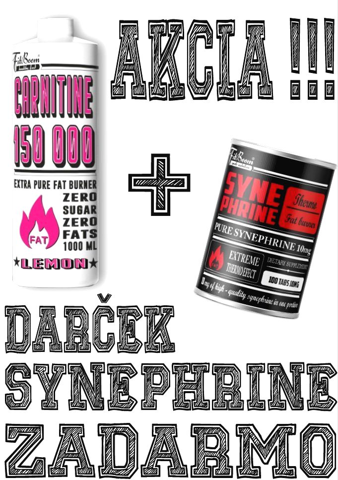Akcia: Carnitine 150 000 Tekutý + Synephrine Zadarmo - FitBoom 1000 ml. + 100 tbl. Orange