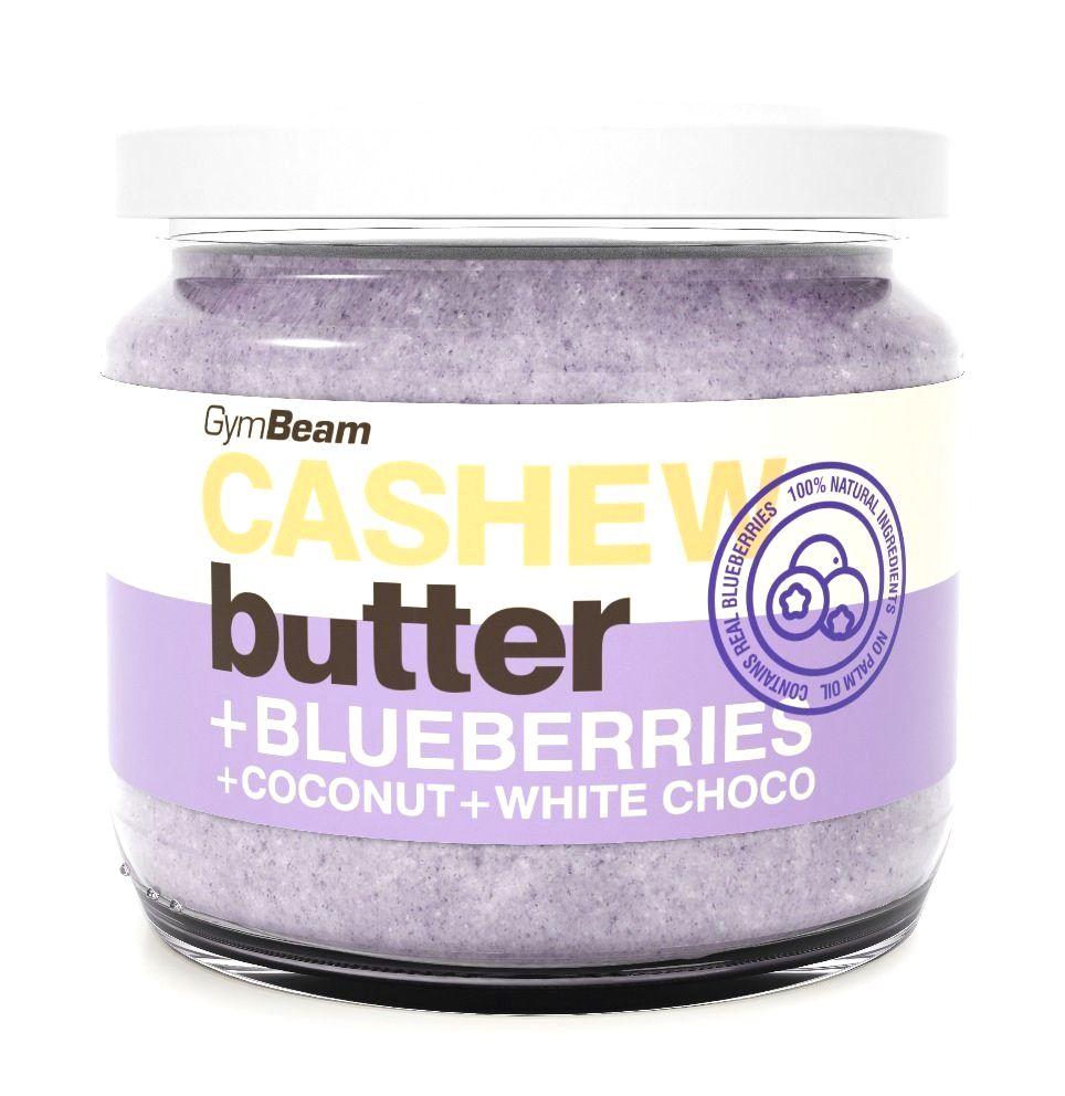 Cashew Butter ochutené - GymBeam 340 g Strawberry+Coconut+White Choco