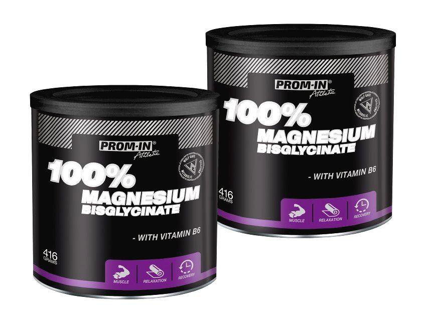 1+1 Zadarmo: 100% Magnesium Bisglycinate - Prom-IN 416 g + 416 g Grapefruit