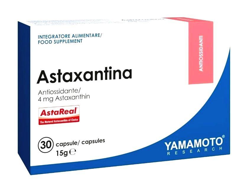 Astaxantina (zvyšuje svalovú vytrvalosť a regeneráciu) - Yamamoto 30 kaps.