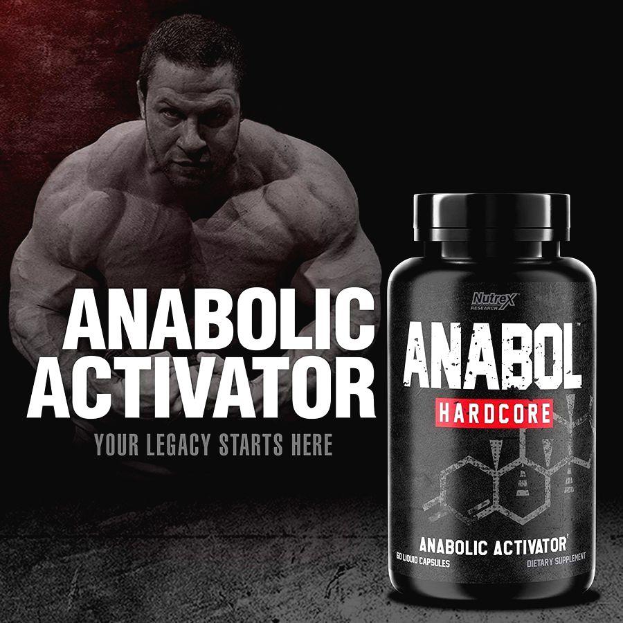 Anabol Hardcore - Nutrex 60 kaps.