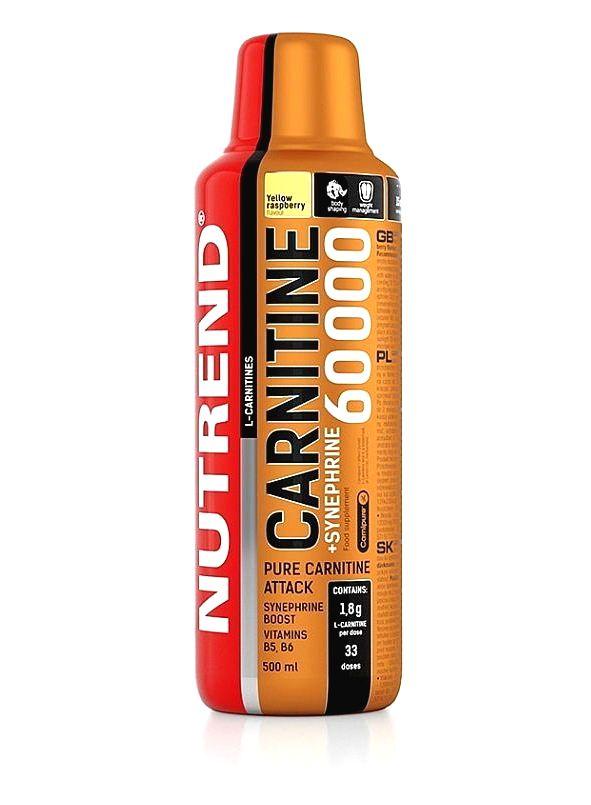 Carnitine 60 000 + Synefrine - Nutrend 500 ml. Yellow Raspberry