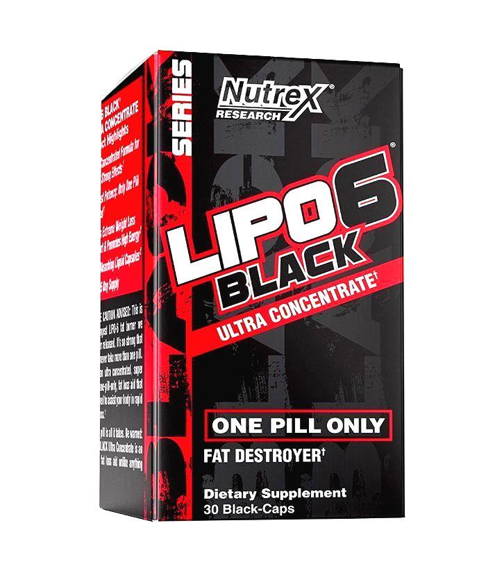 Lipo 6 Black Ultra Concentrate - Nutrex 60 kaps.