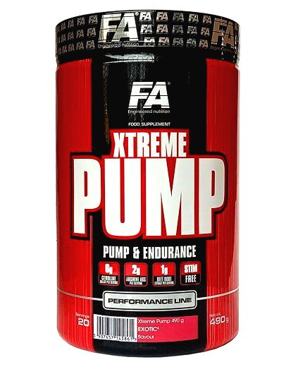 Xtreme Pump Caffeine Free - Fitness Authority 490 g Fruit Punch