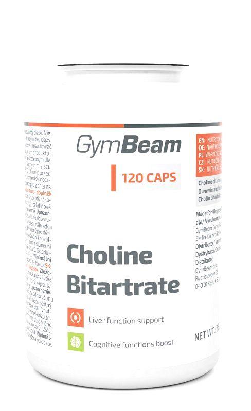 Choline Bitartrate - GymBeam 120 kaps.
