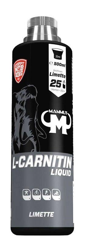 L-Carnitin Liquid - Mammut Nutrition 500 ml. Lime