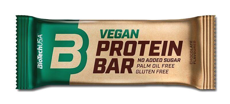 Tyčinka Vegan Protein Bar - Biotech USA 50 g Chocolate