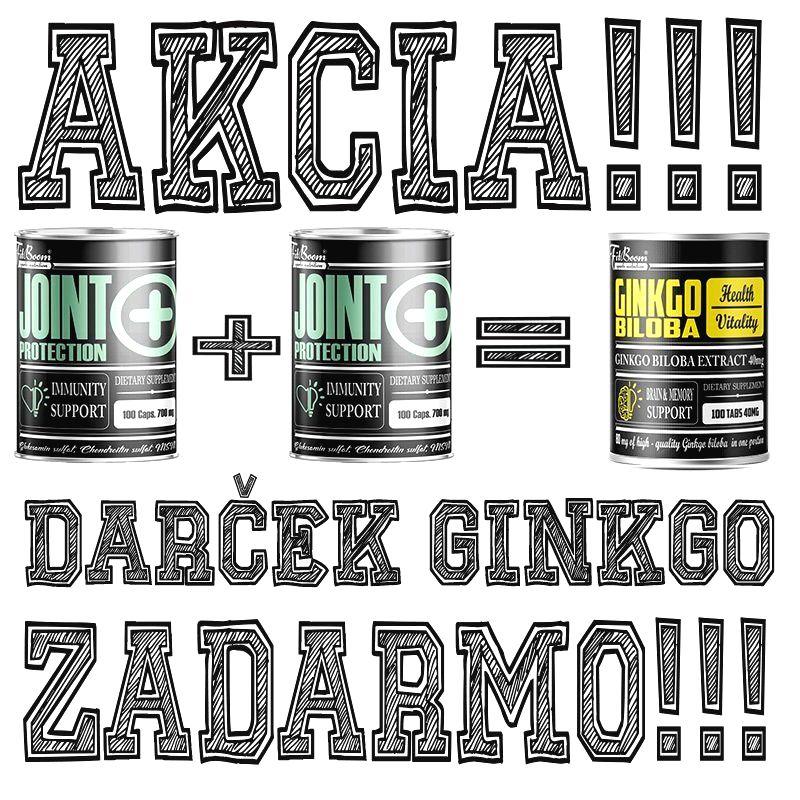 2+1 Zadarmo: Joint Protection + Ginkgo Biloba Zadarmo - FitBoom 100 kaps. + 100 kaps. + 100 tbl.